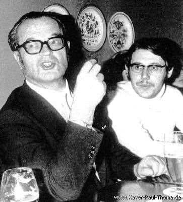 Professor Albert Dietrich und Xaver Paul Thoma