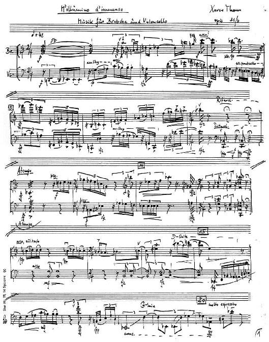 Manuskript xpt 043. M'ILLUMINO D'IMMENSO | Viola, Violoncello von Xaver Paul Thoma