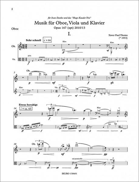 xpt167 oboe viola klavier