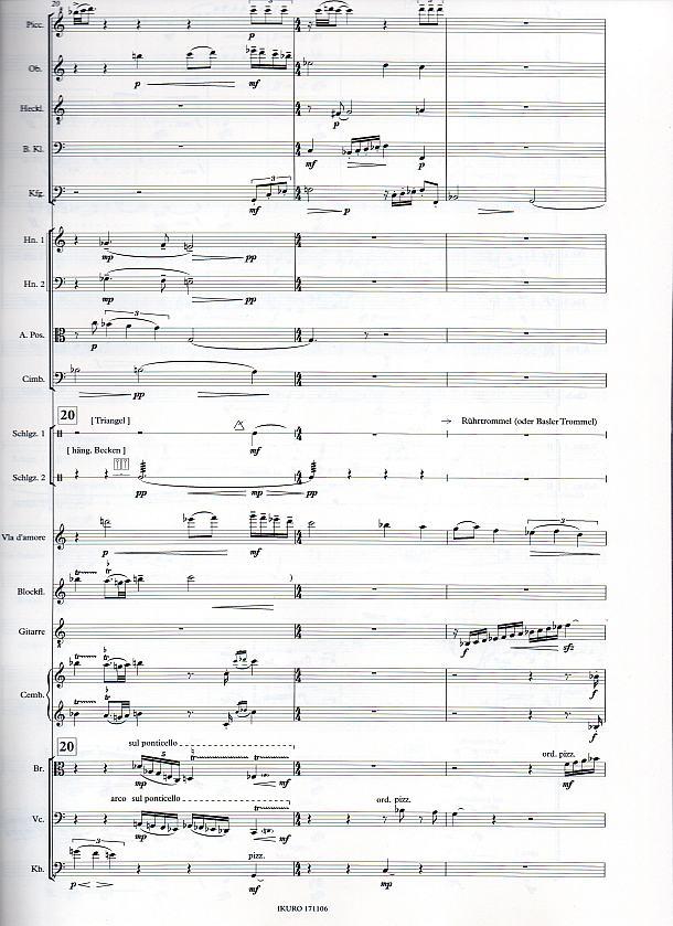 Partiturseite: xpt 186 – KAMMERSYMPHONIE für Orchester von Xaver Paul Thoma