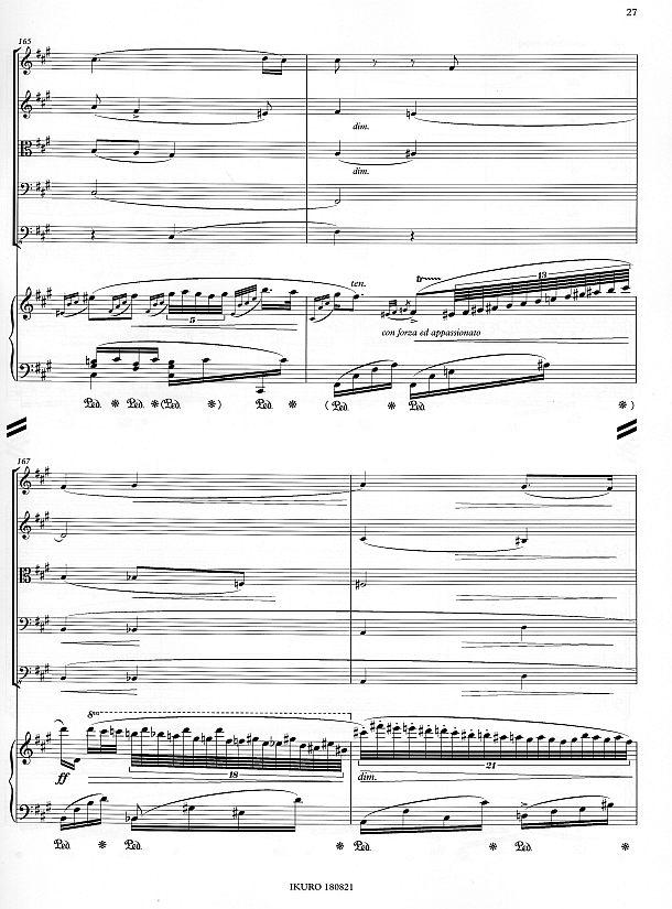Partiturseite 27: xpt 190 - GRANDE FANTAISIE für Klavier und Streichquintett von Xaver Paul Thoma
