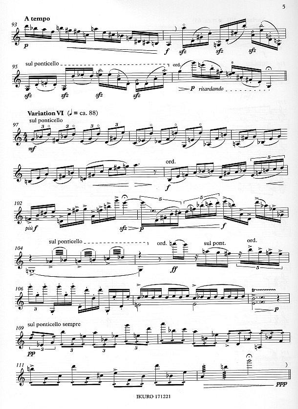 Seite 5: xpt 191 - YUUYAKE KOYAKE / Abendrot für Violine solo von Xaver Paul Thoma