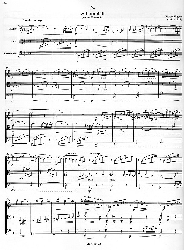 Partitrseite: xpt 195 – Das Streichtrio – erstes Repertoire für Violine, Viola, Cello von Xaver Paul Thoma